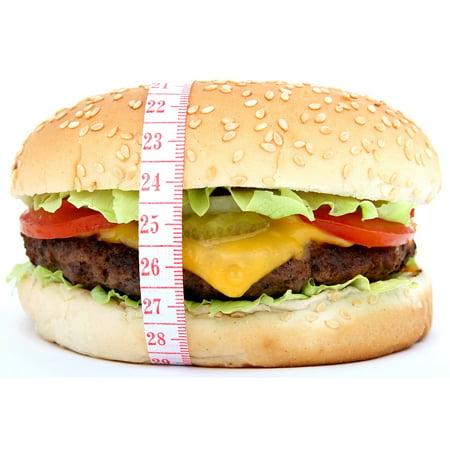 Canvas Print Big Bread Beef Burger Bun Appetite Calories Stretched Canvas 10 x 14