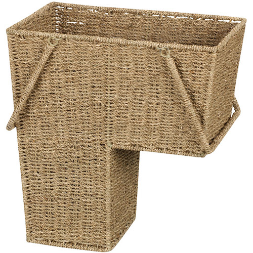 Household Essentials Seagrass Stair Basket