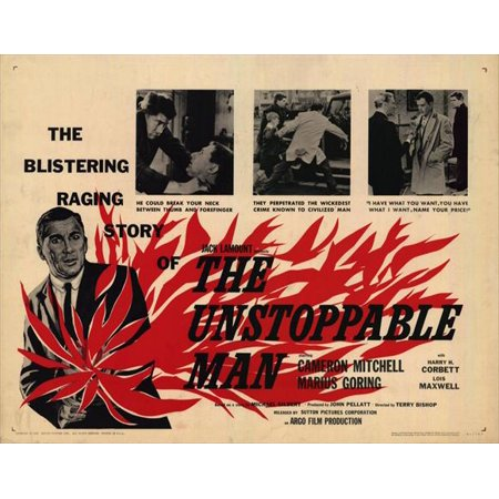 Unstoppable Poster (The Unstoppable Man POSTER Movie Mini Promo )