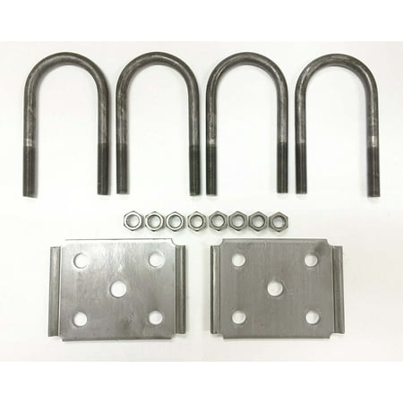 Axle Bolt Covers - New trailer U bolt kit for 3500lbs 2-3/8