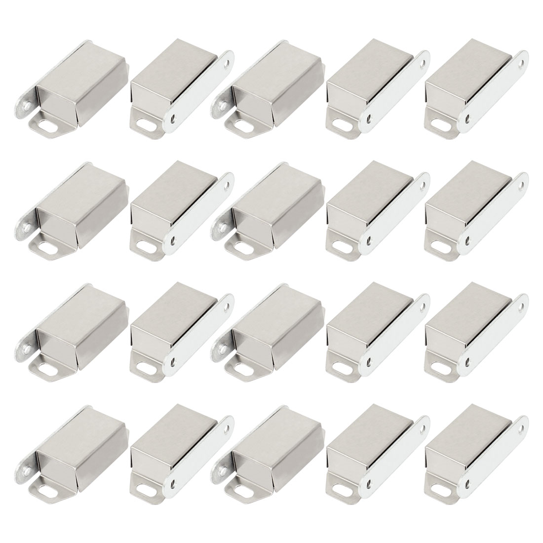 20pcs Metal Cupboard Door Single Magnetic Catch Fastener Latch 48mm Long