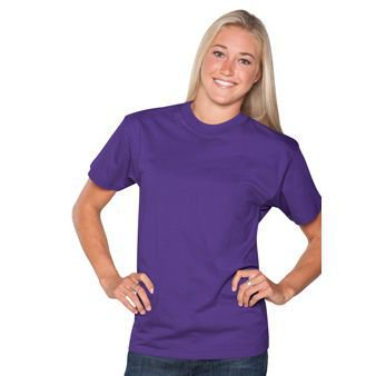 OTTO 6.1 oz. Comfy Cotton Jersey Knit Unisex Heavyweight Comfy Tee T-Shirt - Purple