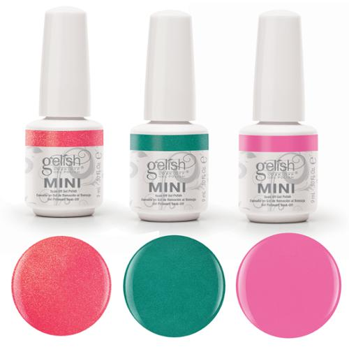 Gelish Neon UV/LED Soak Off Gel Nail Polish 3-Pack Neon Street Beat Collection
