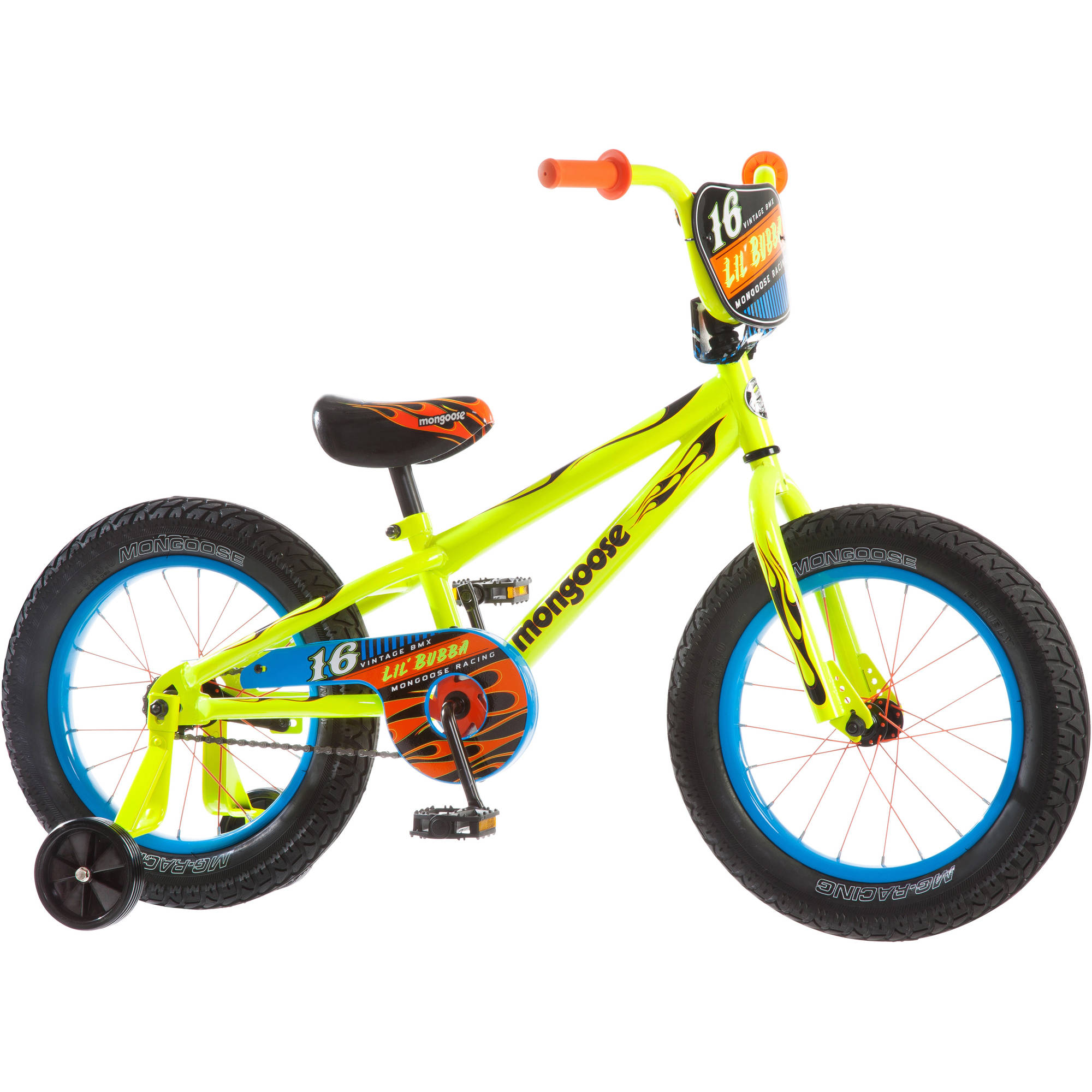 16 Mongoose Lil Bubba Boys Fat Tire Bike Neon Yellow
