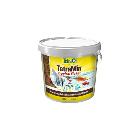 Tetra TetraMin Balanced Diet Tropical Fish Food Flakes, 2.2 lbs