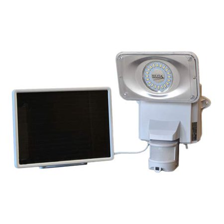 Image of Maxsa Innovations 44642-cam-wh Solar-powered Security Video Camera And Floodlight
