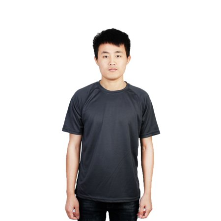 - Men Exercise Running Short Sleeves Tee Top Quick Dry Sports T-Shirt