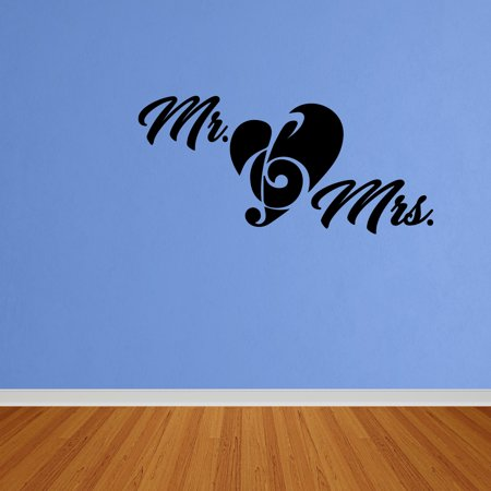 Wall Decal Quote Mr And Mrs Married Couple Vinyl Wall Art Decal Lettering Decor - Great Couples Quotes