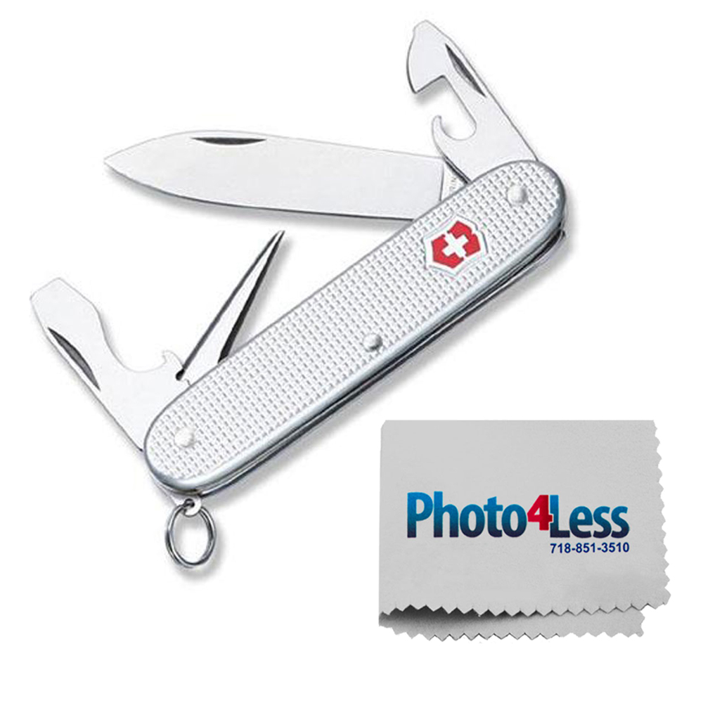 Victorinox Swiss Army Pioneer Pocket Knife, Silver Alox, One Size