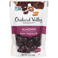 ORCHARD VALLEY HARVEST Dark Chocolate Almonds, 2 oz (Pack of 14)