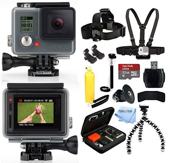 UNASSIGNED GoPro HERO+ PLUS LCD Edition With 32GB Sandisk...