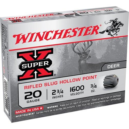 """Winchester Ammunition X20RSM5 5RND 20 GA 2-3/4"""" Slug"""