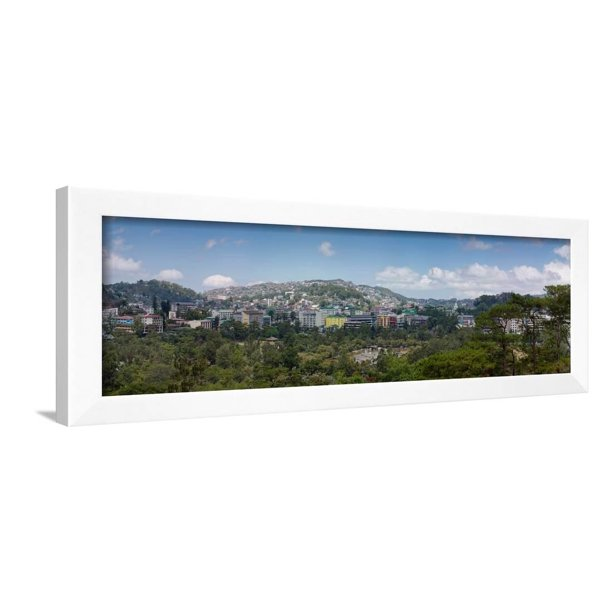 Morning View Of Hillside Houses In The Baguio City Luzon Philippines Framed Print Wall Art Walmart Com Walmart Com
