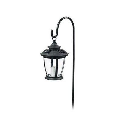 Sterno Home TV29960BK Solar Candle Lantern, With Hook