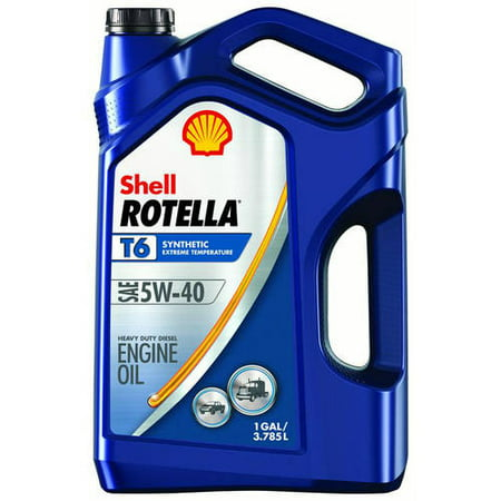 (6 Pack) Shell Rotella T6 5W-40 Full Synthetic Heavy Duty Diesel Engine Oil, 1 (Best Cummins Diesel Engine)