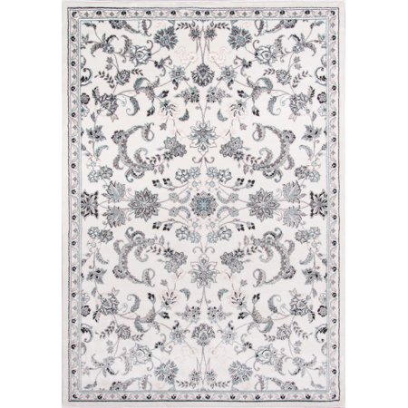 Momeni Brooklyn Heights Polyester and Polypropylene Machine Made Ivory Area Rug 7'10