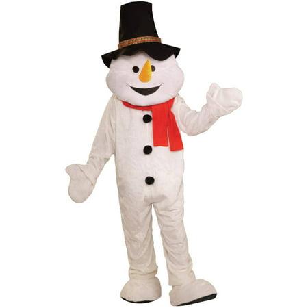 Snowman Plush Economical Mascot Men's Adult Halloween Costume - Mascot Halloween Costume Ideas