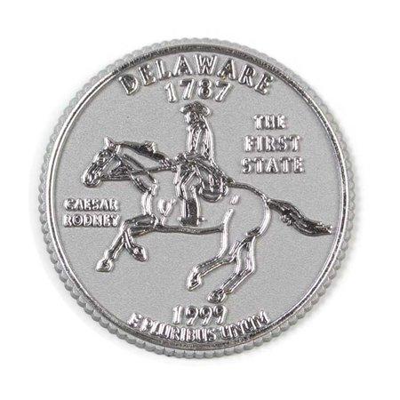 Delaware State Quarter Fridge Magnet