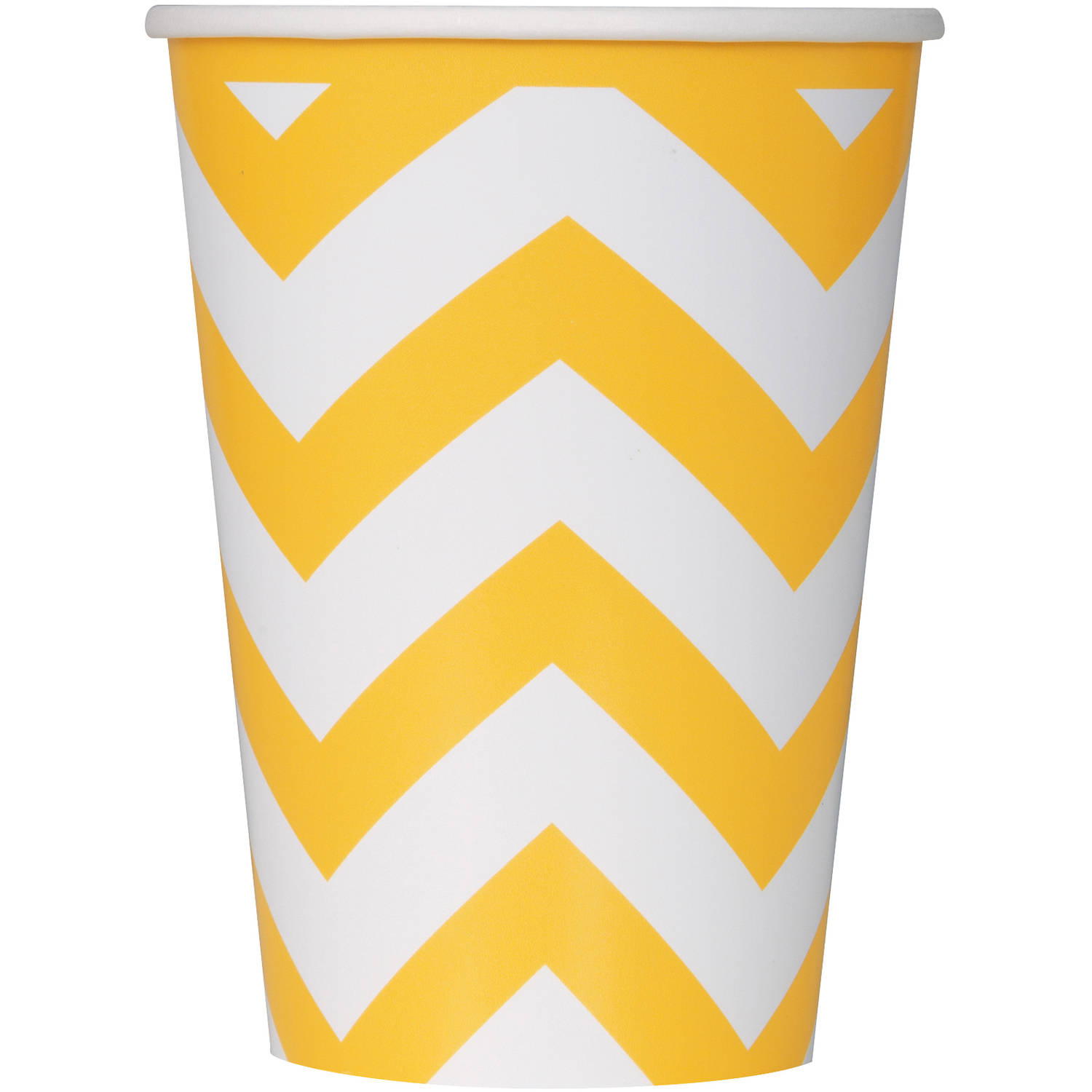 12 oz Yellow Chevron Paper Cups, 6ct by Unique Industries
