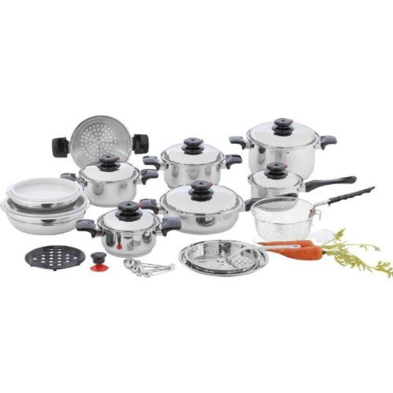 Chefs Secret 12-element T304 Stainless Steel 28pc Cookware Set- 12 Elem Ss Cookware Set by Supplier Generic