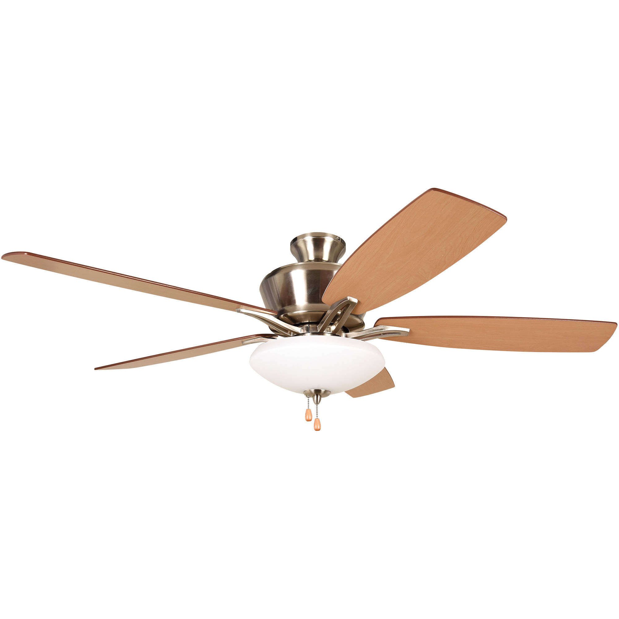 "Litex Industries Kala 52"" Dual Mount Ceiling Fan Brushed Nickel"