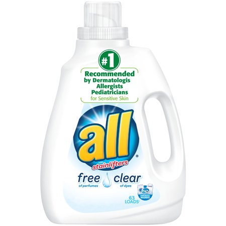 All Liquid Laundry Detergent  Free Clear For Sensitive Skin  94 5 Fluid Ounces  63 Loads