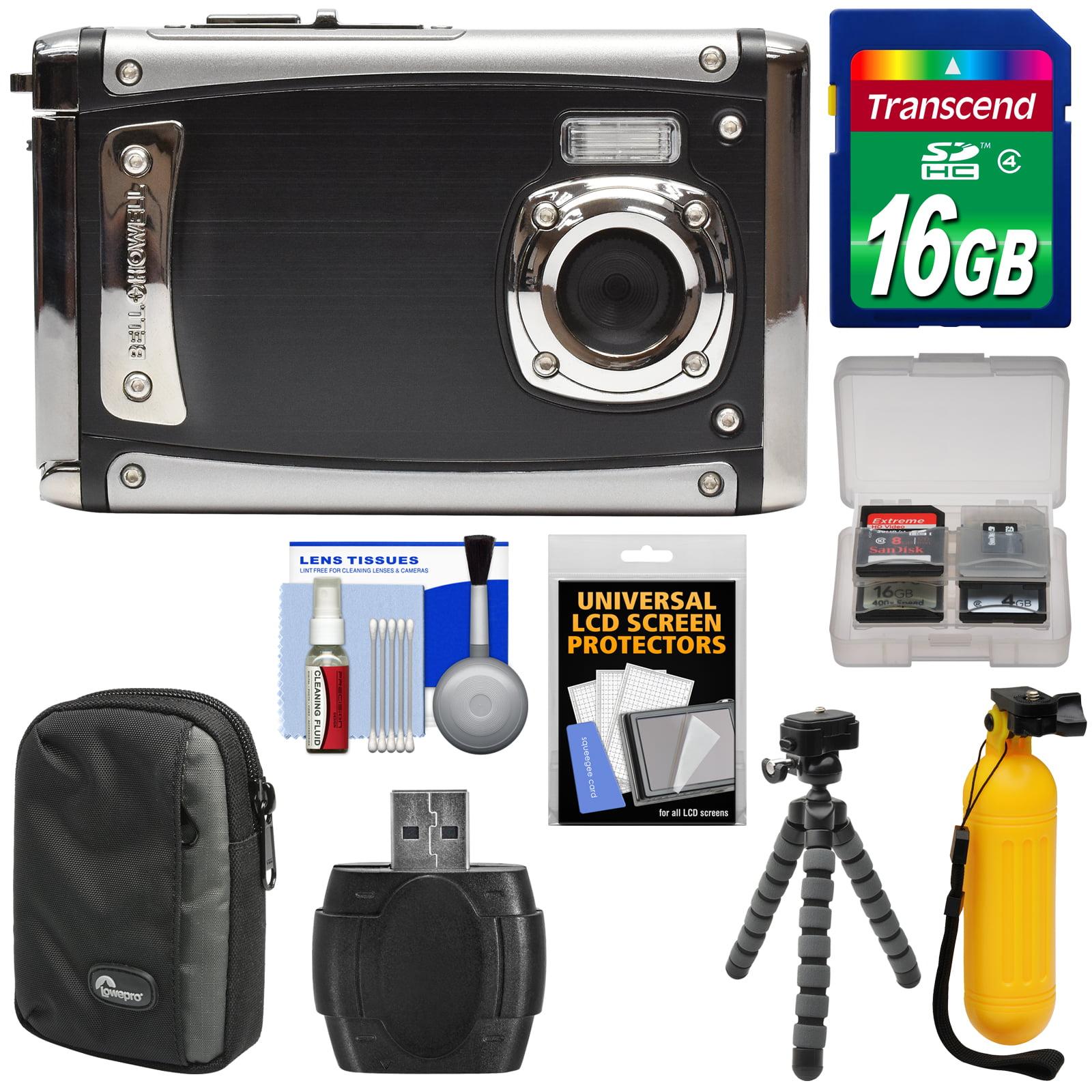 Bell & Howell Splash3 WP20 HD Shock & Waterproof Digital Camera (Red) with 16GB Card + Case + Buoy Handle + Tripod + Kit