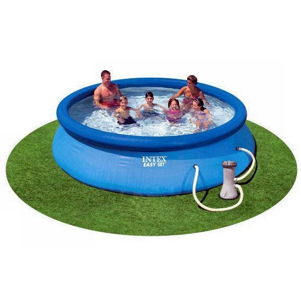 """Intex 12' x 30"""" Easy Set Above Ground Swimming Pool & Filter Pump   28131EH"""