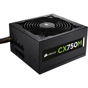 Corsair CX750M Ppower Supply - ATX12V/EPS12V - 110 V AC, 220 V AC Input Voltage - Internal - Modular - ATI CrossFire Supported - NVIDIA SLI Supported - 85% Efficiency - Ati Crossfire Motherboards