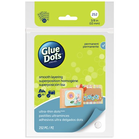 "Glue Dots Clear Thin Dot Sheets-Ultra Thin .375"" 252/Pkg - image 1 of 1"
