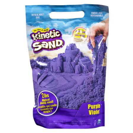 Kinetic Sand the Original Moldable Sensory Play Sand, Purple, 2