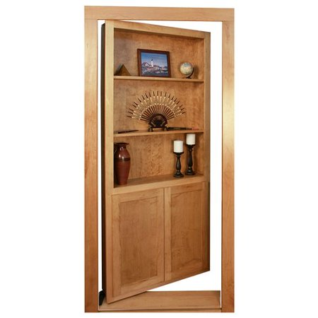 Red Barrel Studio Catawissa Bookcase Hidden Wood Interior Door