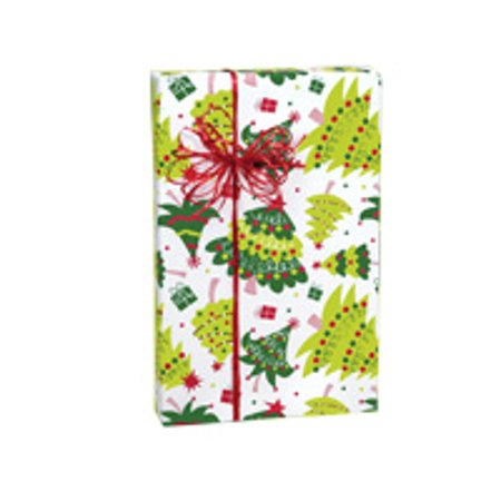 - Green and white Presents Jolly Christmas Tree Holiday /Christmas Gift Wrapping Paper 16ft