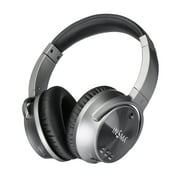Truly Active Noise Cancelling Headphones bluetooth Headphones Wired/Wireless Headset Over Ear with Mic, Comfortable Earpads 25H Playing Headphones for Travel/Work