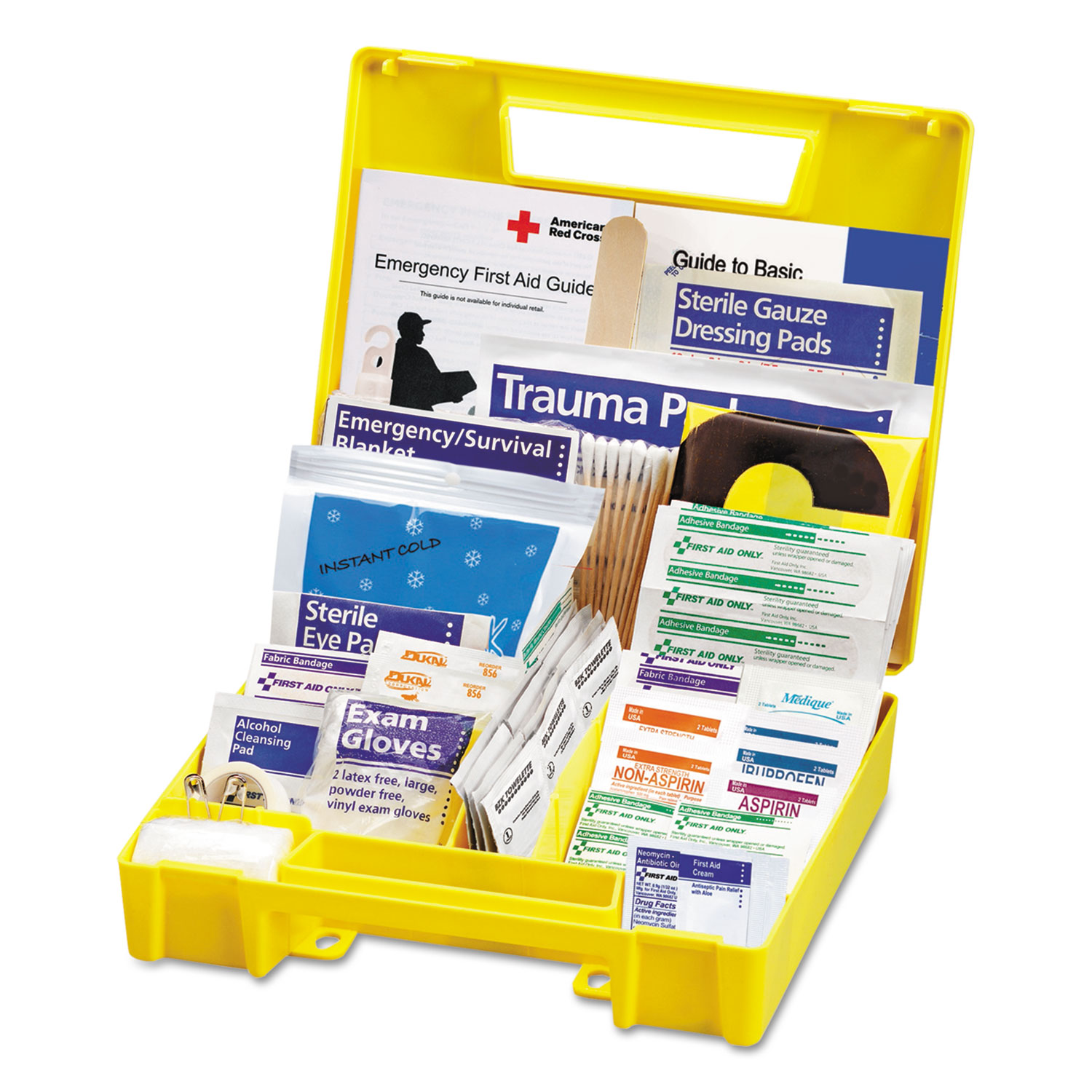 Essentials First Aid Kit for 5 People, 138 Pieces Kit by First Aid Only