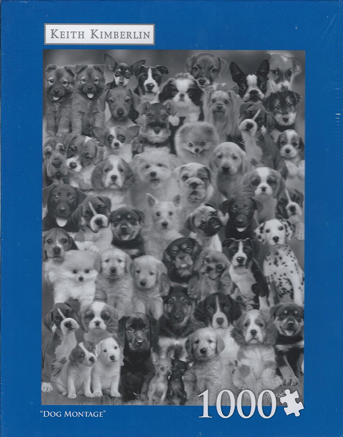 Dog Montage 1000 Piece Puzzle by Keith Kimberlin By Milton Bradley by