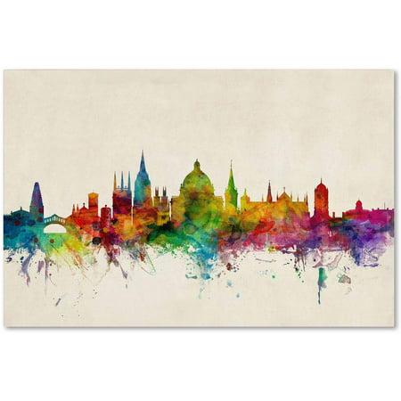"Trademark Fine Art ""Oxford England Skyline"" Canvas Art by Michael Tompsett"