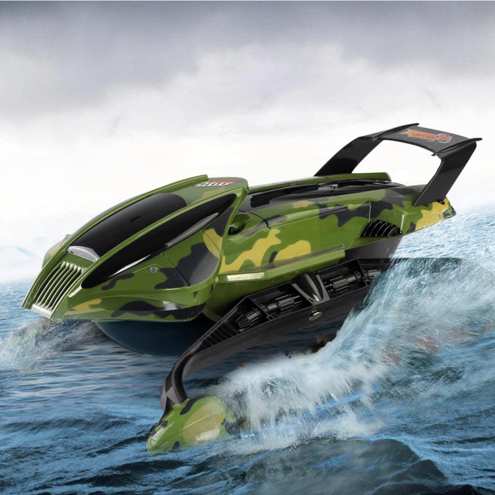 Remote Control Amphibian Vehicle, Land & Water Tank Car W...