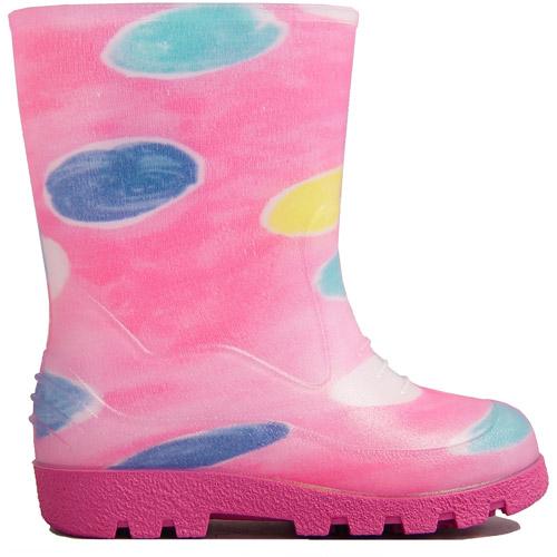Toddler Girl's Splash Circle Rain Boot