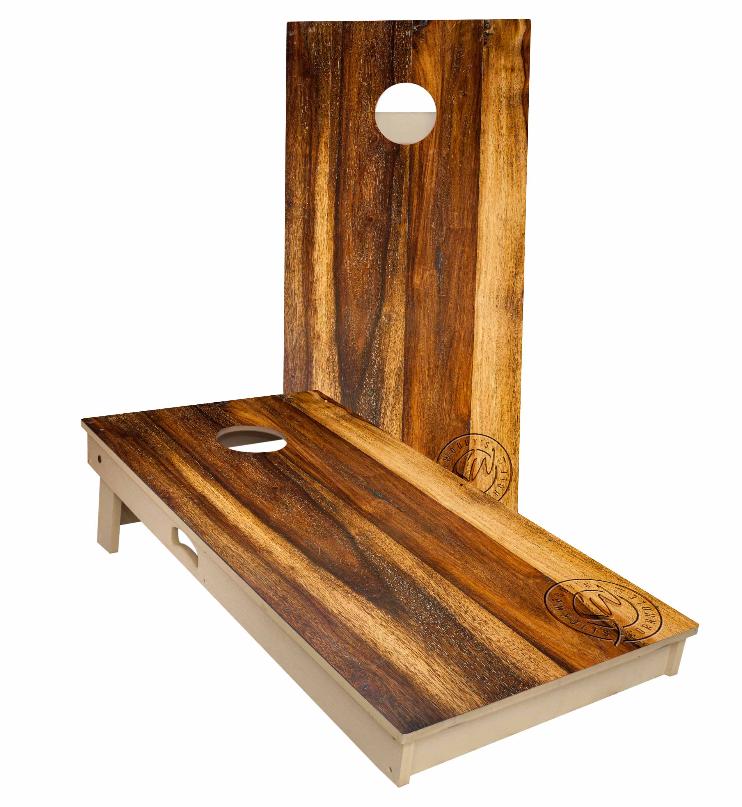 Treated Oak All Weather Tournament Size Cornhole Boards by