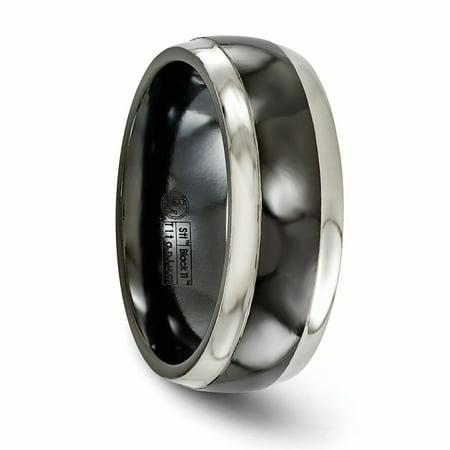 Edward Mirell Titanium Black Ti 8mm Band Size 10.5 - image 1 de 4