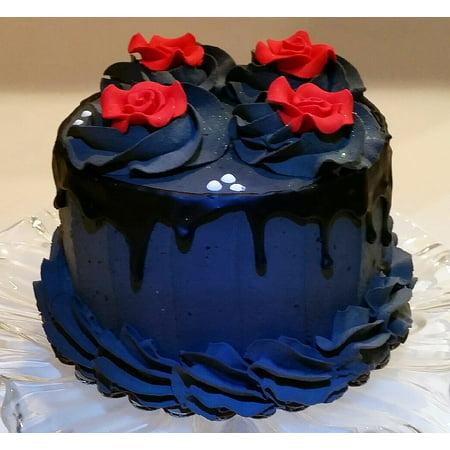 Gothic Black & Red Cake 6