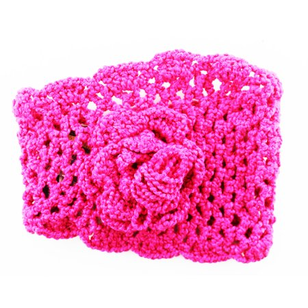 Knitted Flower Winter Headband Large Knitted Cold Weather Headband