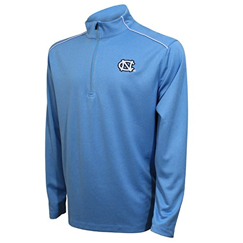 Crable Adult Men NCAA Quarter Zip with with Shoulder Piping