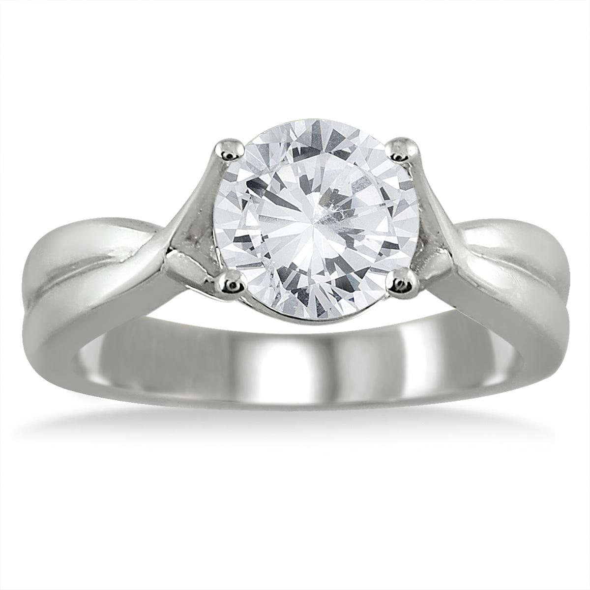 Szul Ags Certified 1 Carat Diamond Solitaire Ring In 14k
