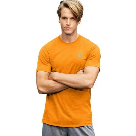 fe2e88cea855 Champion - Vapor® Men's Cotton Basic Tee, Glazed Orange Heather - L -  Walmart.com