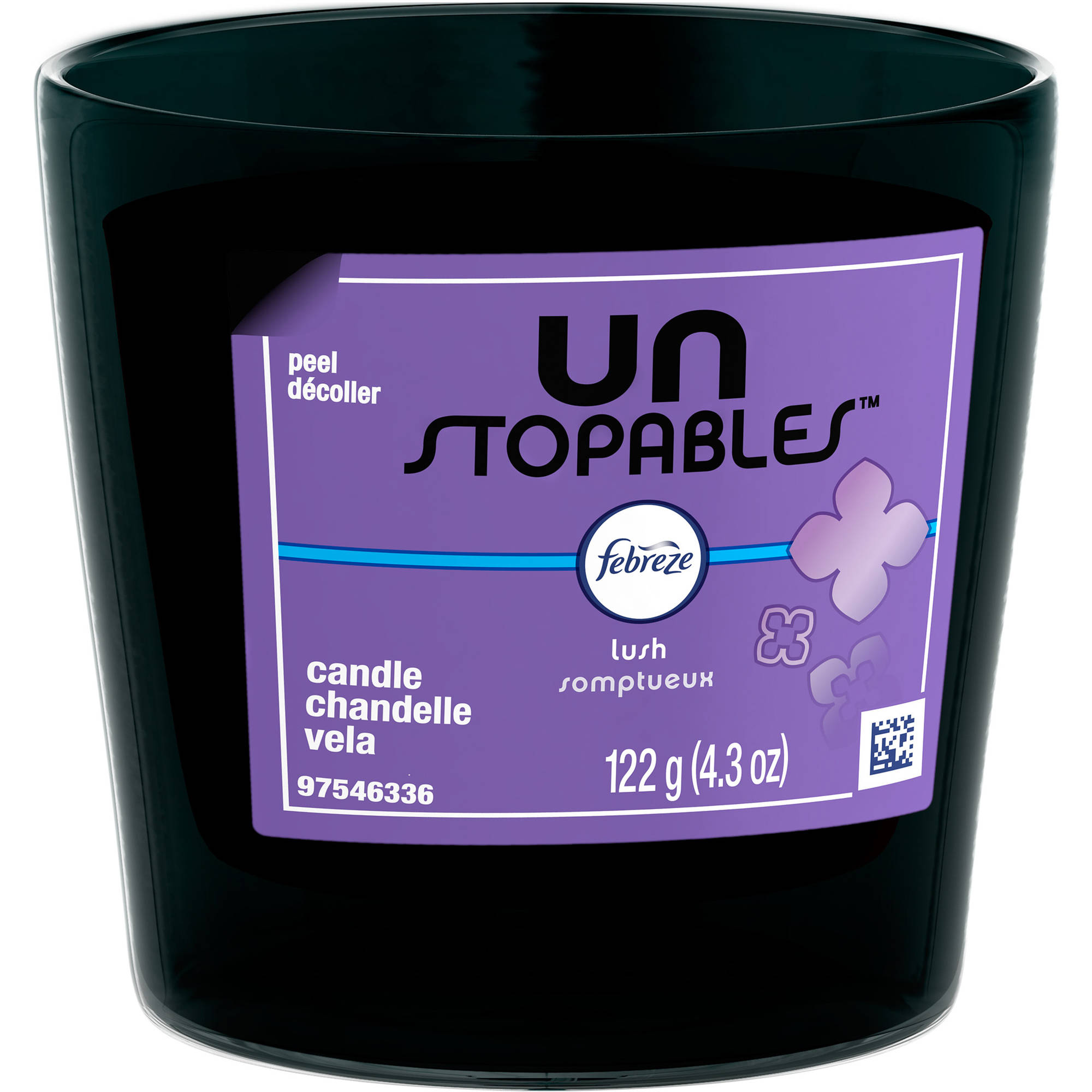 Febreze Unstopables Lush Scented Candle, 4.3 oz