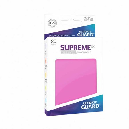 Supreme Ux Standard Pink 66mm x 91mm Pack of 80 Sleeves Ultimate Guard (80 Punk)