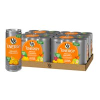 (24 Cans) V8 +Energy Orange Pineapple, 8 Fl Oz