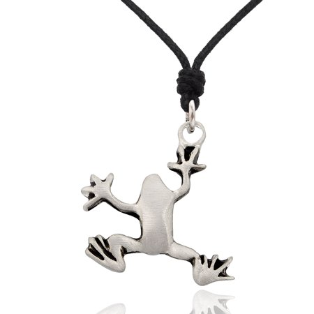 Frog Jewelry - New Frog Silver Pewter Charm Necklace Pendant Jewelry With Cotton Cord